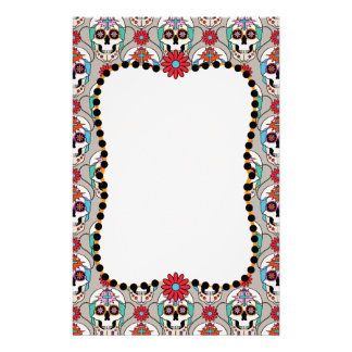 Sugar Skulls Graphic Personalized Stationery