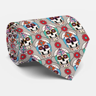 Sugar Skulls Graphic Tie