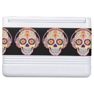 Sugar Skulls Igloo Can Cooler - Day of the Dead