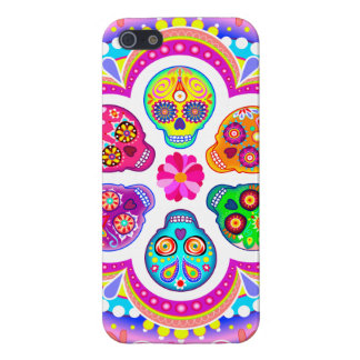 Sugar Skulls iPhone 5 Case by Case Savvy