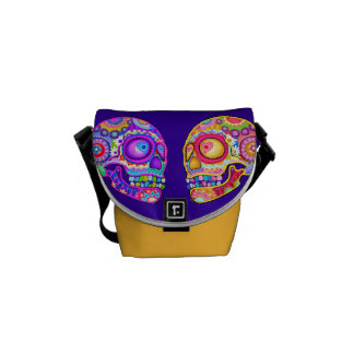 Sugar Skulls Mini Messenger Bag - Art by Thaneeya