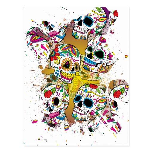 Sugar Skulls Post Card