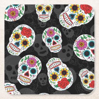 Sugar Skulls print Coaster Square Paper Coaster