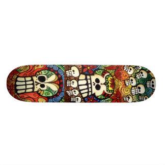 Sugar Skulls Skateboard Design