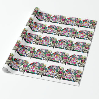 Sugar Skulls Watching You Wrapping Paper