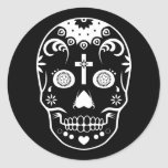 sugar skullz : 2 round sticker