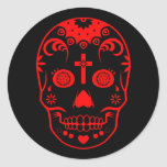 sugar skullz : 2 round stickers