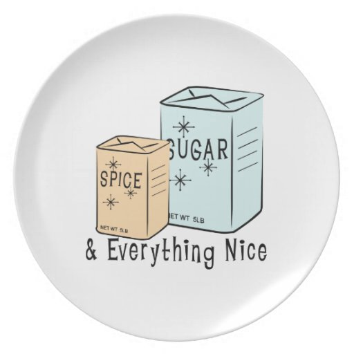 Sugar Spice and everything nice Party Plates