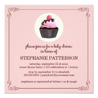 Sugar & Spice Cupcake Girl Baby Shower Invitation