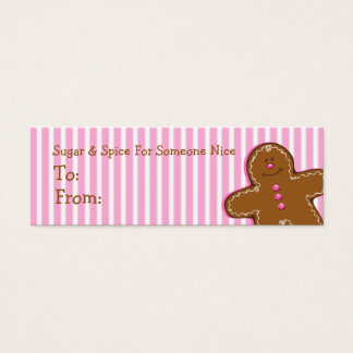 Sugar & Spice Gingerbread Custom Gift Tag