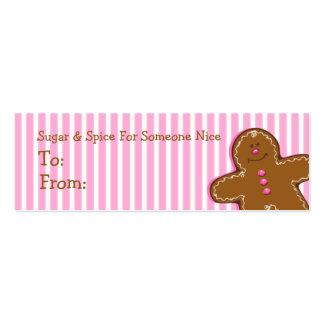 Sugar & Spice Gingerbread Custom Gift Tag Business Card