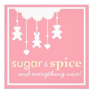 Sugar Spice Girl Baby Shower Invitation