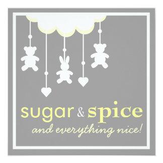 Sugar & Spice Neutral Baby Shower Invitation