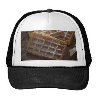 Sugar Sprinkled Brussels Waffles Cap