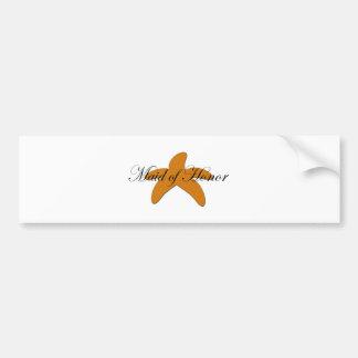 Sugar Starfish Maid of Honor Bumper Sticker