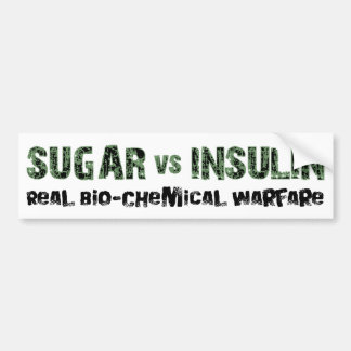 Sugar vs Insulin Bumper Sticker