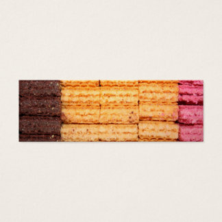 Sugar Wafer Cookies Mini Business Card