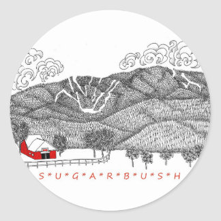 Sugarbush Vermont Classic Round Sticker