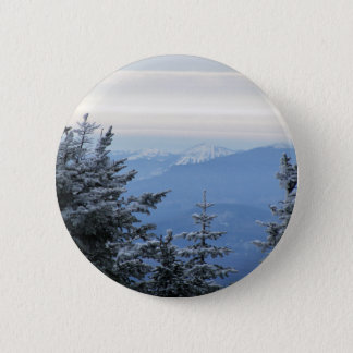 Sugarloaf Mountain on the Horizon in Maine 6 Cm Round Badge