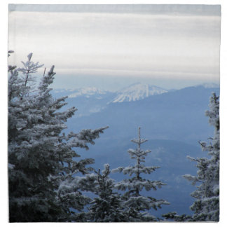 Sugarloaf Mountain on the Horizon in Maine Napkin