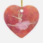 Sugarplum Fairy Heart Ornament