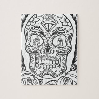 Sugarskull Tattoo Art By Sweetpieart Jigsaw Puzzle