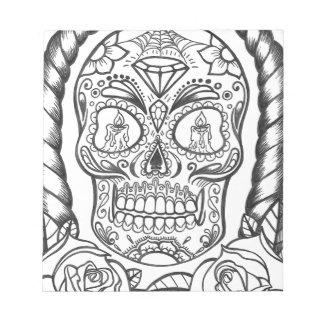 Sugarskull Tattoo Art By Sweetpieart Notepad