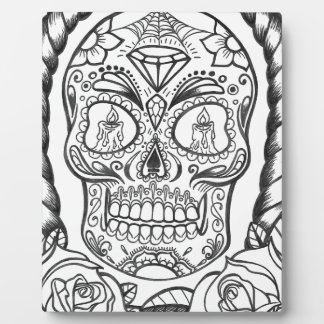 Sugarskull Tattoo Art By Sweetpieart Plaque