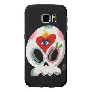 SugarSkull Third Eye color Samsung Galaxy S6 Cases