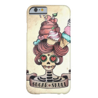 Sugary Sweet skull Barely There iPhone 6 Case