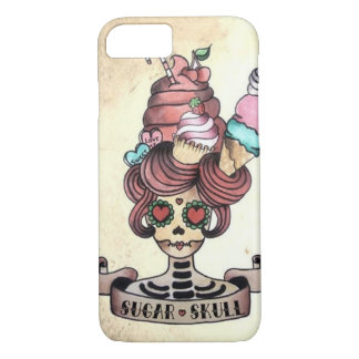 Sugary Sweet skull iPhone 7 Case