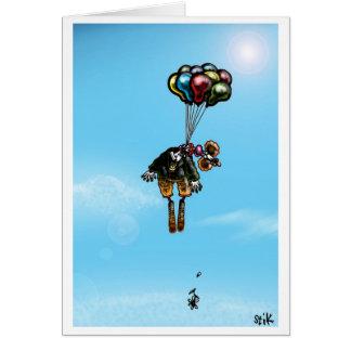 Suicidal Clown Card