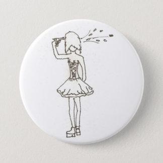 Suicidal Girl 7.5 Cm Round Badge
