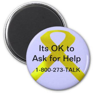 Suicide Awareness Help Magnet