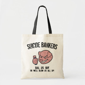 Suicide Bankers Canvas Bags