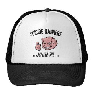 Suicide Bankers Trucker Hats
