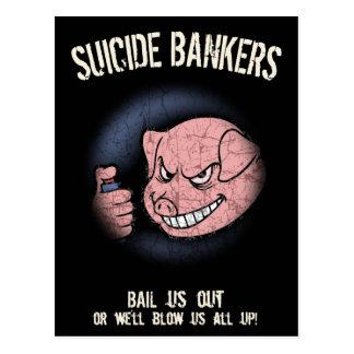 Suicide Bankers Postcards