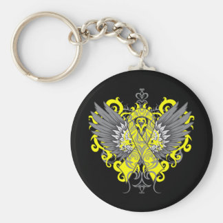 Suicide Prevention Awareness Wings Basic Round Button Key Ring