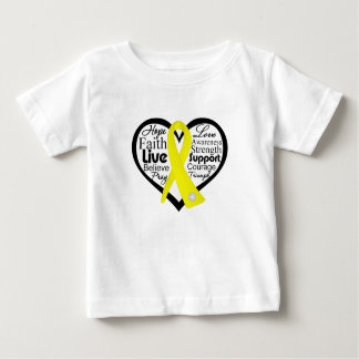 Suicide Prevention Heart Ribbon Collage Baby T-Shirt