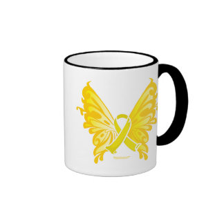 Suicide Prevention Ribbon Butterfly Coffee Mugs