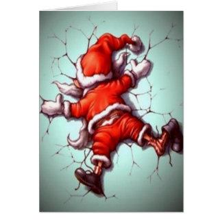 Suicide Santa Card