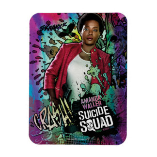 Suicide Squad   Amanda Waller Character Graffiti Rectangular Photo Magnet
