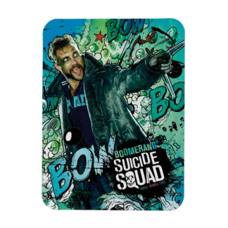 Suicide Squad | Boomerang Character Graffiti Rectangular Photo Magnet