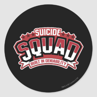 Suicide Squad | Built In Deniability Classic Round Sticker