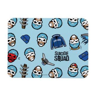 Suicide Squad   Captain Boomerang Emoji Pattern Rectangular Photo Magnet