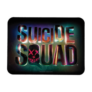 Suicide Squad | Colorful Glow Logo Rectangular Photo Magnet