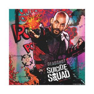 Suicide Squad | Deadshot Character Graffiti Canvas Print
