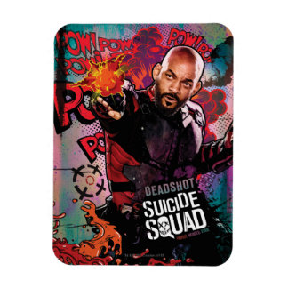 Suicide Squad | Deadshot Character Graffiti Rectangular Photo Magnet