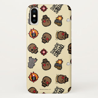 Suicide Squad   Deadshot Emoji Pattern iPhone X Case