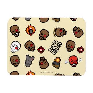 Suicide Squad   Deadshot Emoji Pattern Rectangular Photo Magnet